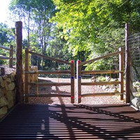 Rustic gates with deer grate