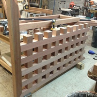 In process of new mahogany gate