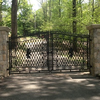 Steel entrance gate