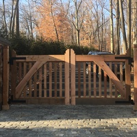 Rough cut chunky red cedar gates